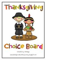 There are 9 different activities in this choice board. $4.50