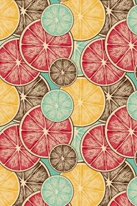 """Morning Fruit"" by Cameo. To have a colourlovers pattern printed on fabric, go to http://www.colourlovers.com/store/fabric"