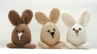 Bunny decor or toys 3 Easter spring crochet by Loopedwithlove4U
