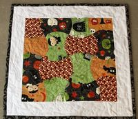 Halloween Wall-Hanging/Table Topper by Pitter Putter Stitch, via Flickr