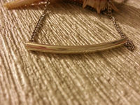 Simple silver plated tube necklace