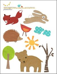 Children Inspire Design's free downloads- perfect for kid's collage art, mobiles or garland DIY's!