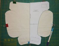 Adding soaker wings to a fitted diaper pattern ~ atutorial
