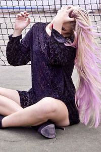 Blonde and Pastel Purple Hair