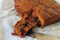 Melissa Clark's Sticky Cranberry Gingerbread.