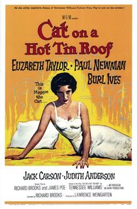 Cat on a Hot Tin Roof (one-sheet;Turner Classic Movies)