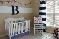 We love navy and white paired together. #nursery