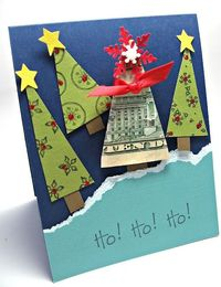 Christmas money tree card