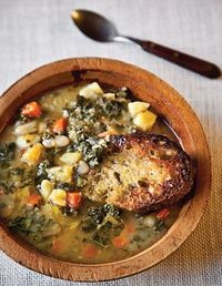 Tuscan Bean Soup-Saveur - Click image to find more popular food & drink Pinterest pins