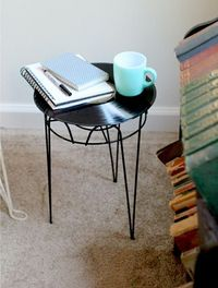 DIY: record side table