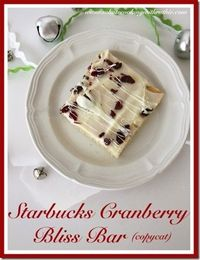 Starbucks Cranberry Bliss Bar recipe