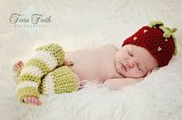 CROCHET PATTERN Strawberry Shortcake Beanie by YarnBlossomBoutique, $4.99