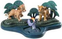 The Lion King - Simba, Nala, Zazu and Base - The Watering Hole - Walt Disney Classics Collection - World-Wide-Art.com - $250.00 #WDCC #Disney