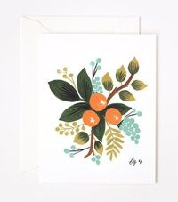 ++ Clementine Floral Card by Rifle Paper Co.