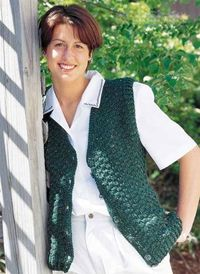 classic ladies speckled vest