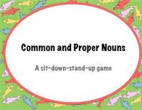 The Noun Game - a sit-down-stand-up game