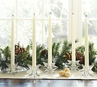 Glass Star Taper Candle Holder #potterybarn