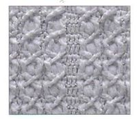 Free Cross Puffed Cable Stitch Afghan Square Pattern