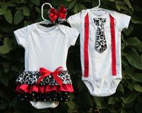 boy & girl twin outfits