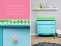 Adorable changing table- love the knobs!