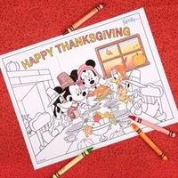 Mickey Thanksgiving coloring page