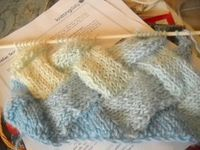 entrelac, not for the lighthearted, but great when your mind needs a challenge