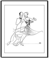 """Fred Astaire and Ginger Rogers"" by Al Hirschfeld."