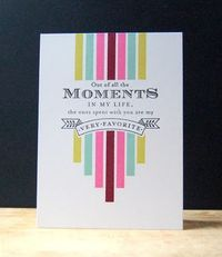 Favorite Moments Card by Cristina Kowalczyk for Papertrey Ink (December 2012)