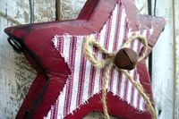 Holiday Decoration Christmas Ornament Rustic Primitive Farmhouse Decor. $10.00, via Etsy.