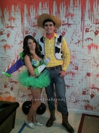 Homemade Couple Costume: Buzz Lightyear and Woody This we