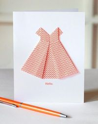 How About Orange. Origami dress