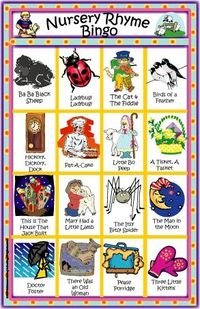 Nursery Rhyme Bingo Game