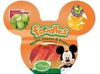 Disney introduces Foodles by Crunch Pak as they move towards advertising healthier foods on their media stations.