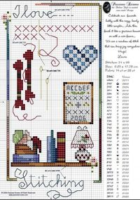 100% ponto cruz; free cross stitch chart from Italy