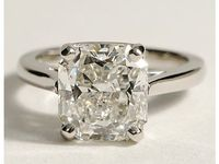 Tapered Cathedral Engagement Ring in Platinum #BlueNile