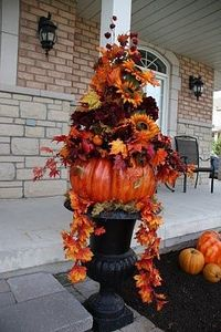 Large festive flower urn..beautiful!