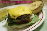 Big Evil Cheeseburger - a good ole, traditional burger with a great sauce to top it off. #burger #hamburger #groundbeef