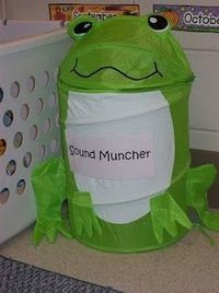 The Sound Muncher We will not be blending but we will be learning beginning sounds and this is just to stinkin cute!