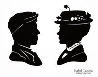 Mary Poppins (Mary and Bert) Disney Paper Silhouettes
