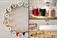 DIY: embroidery hoop thread rack