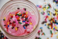 Birthday Cake in a Jar