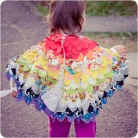 Upcycled Fabric Dress Up Wings on Folksy
