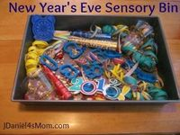 New Year's Eve Sensory Bin by JDaniel4's Mom
