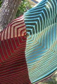 Four Square Blanket and Hat by Betsy Coyne