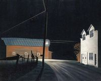 Bright Light at Russell's Corners oil on canvas by George Ault, 1946