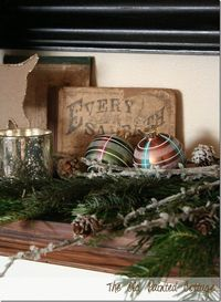 Our Holiday Mantel | The Old Painted Cottage