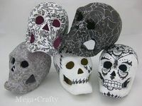 Scrapbook Paper Covered Skulls