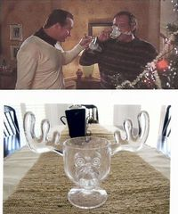 Best Christmas Gift Ever!!! A set of Christmas Vacation Moose Mugs. Just like Clark and Cousin Eddie used.