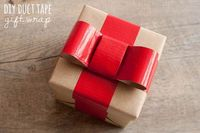 DIY duct tape ribbon gift wrap #diy #gift #wrapping