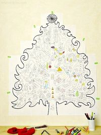 Printable Christmas Coloring Pages - Coolest christmas project ever!! I think we might do this every year!!